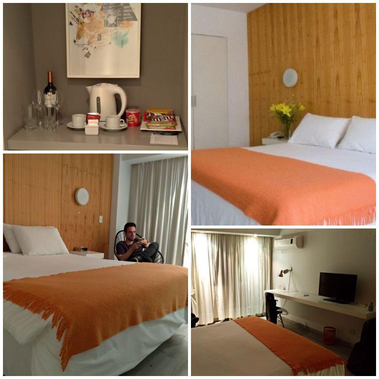 Nosso quarto no Hotel Own Express Recoleta