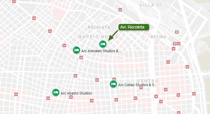 Hotéis da rede Arc em Buenos aires: 2 próximos à Recoleta e 2 mais próximos ao Centro