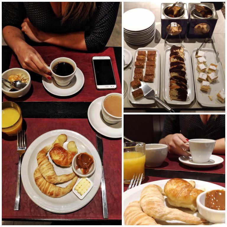 Delícia de café da manhã do Arc Recoleta Hotel