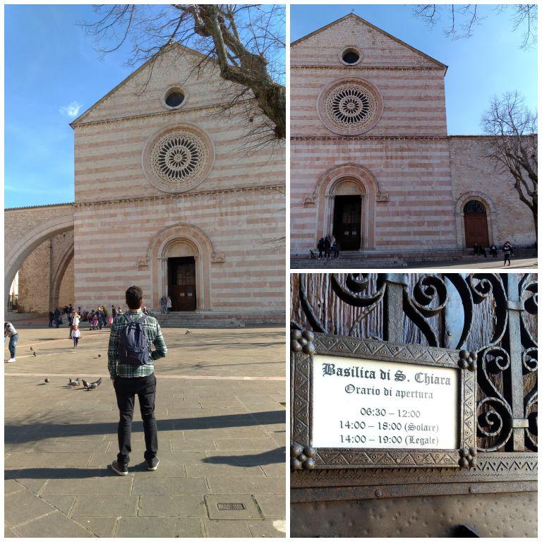 Basílica de Santa Clara, em Assis