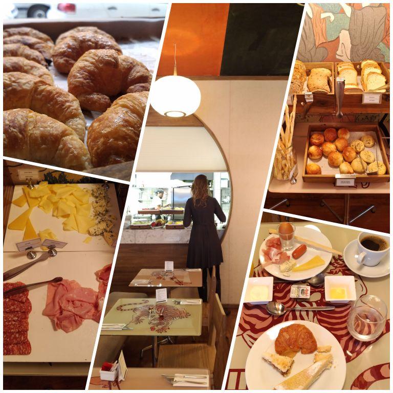 Café da manhã no Casasur Bellini Hotel
