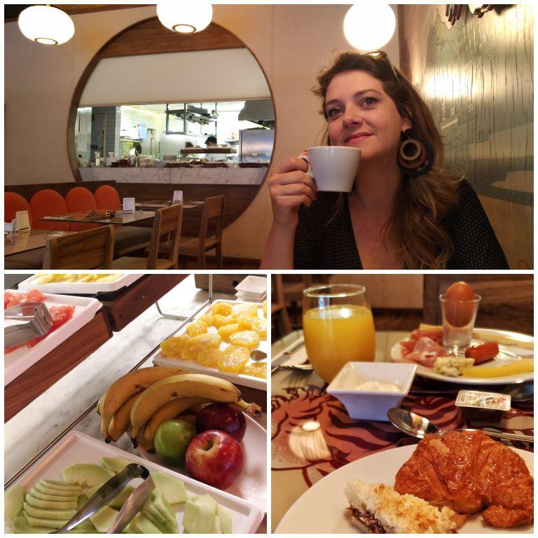 Café da manhã do Casasur Bellini Hotel