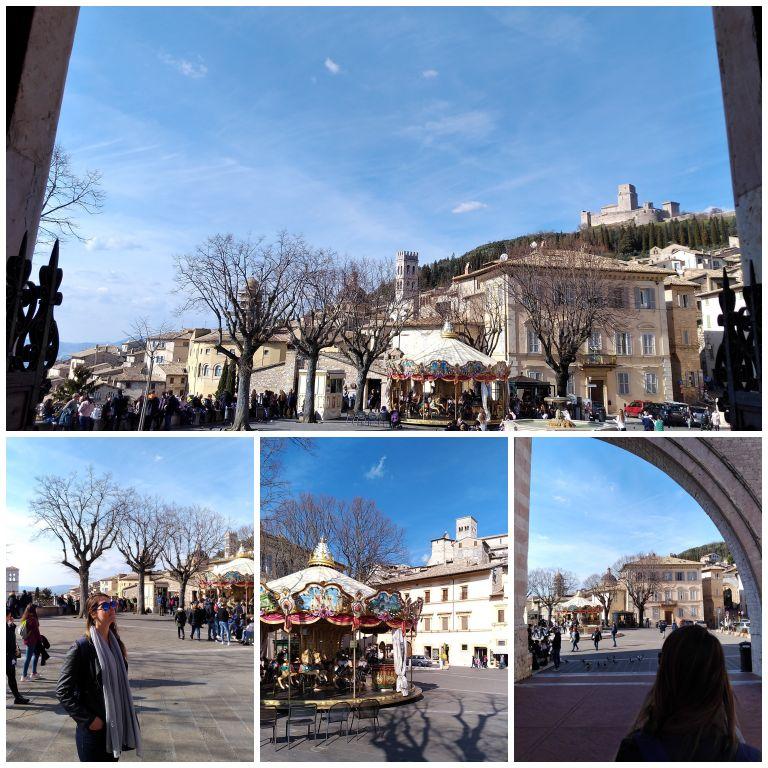 Piazza Santa Chiara em Assis