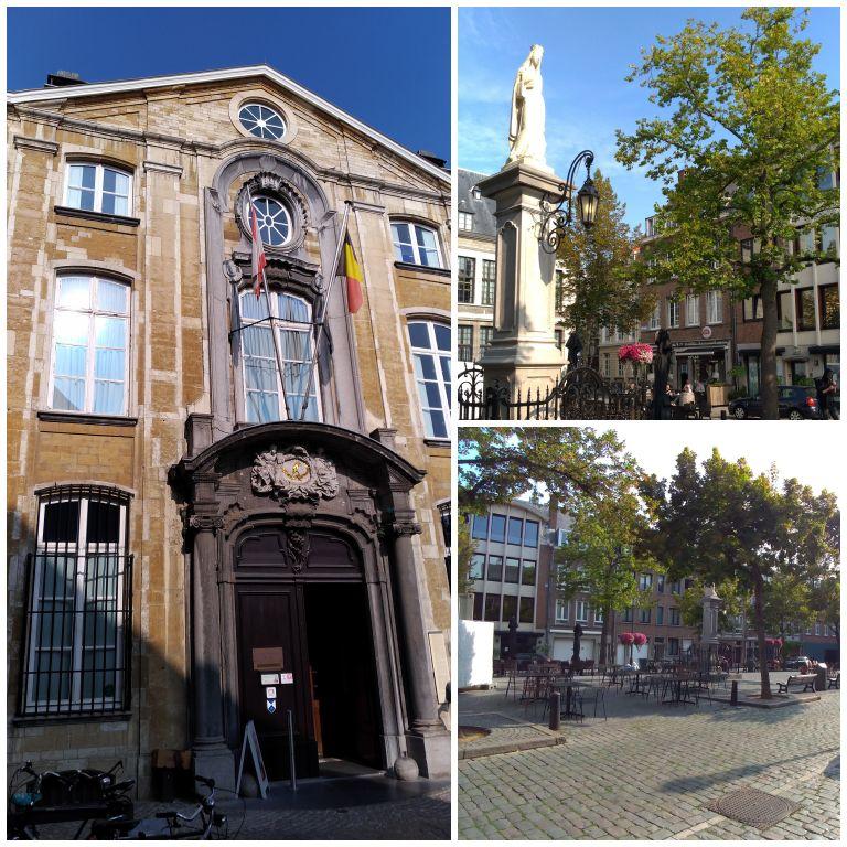 Praça Vrijdagmarkt e entrada do museu