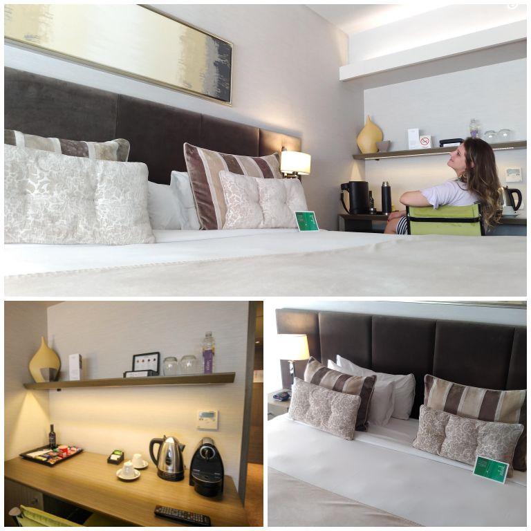 Detalhes do quarto standard no Grand Recoleta Hotel