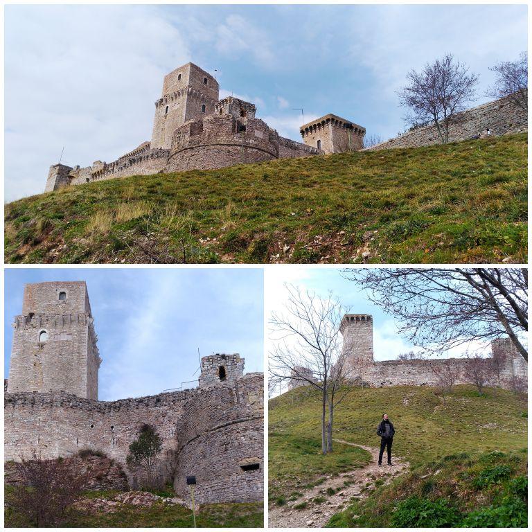 A fortaleza Rocca Maggiore, em Assis