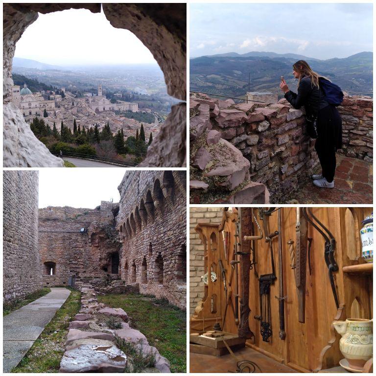 Detalhes da visita a Rocca Maggiore em Assis
