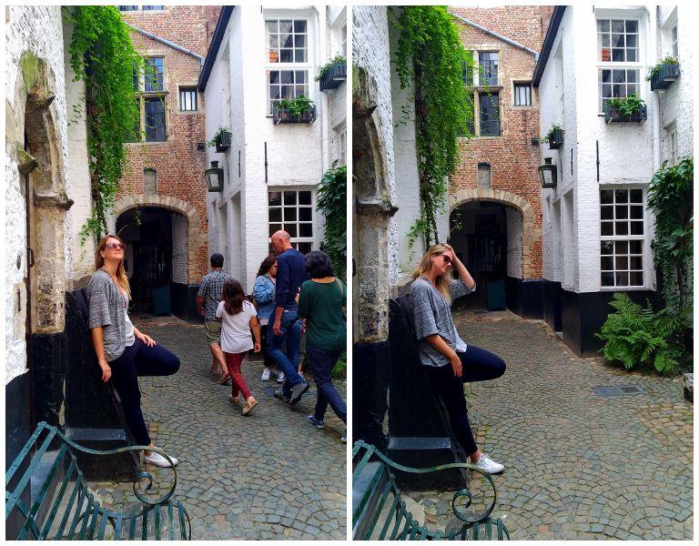Vlaeykensgang: algumas tentativas até conseguir uma foto sem outras pessoas :)