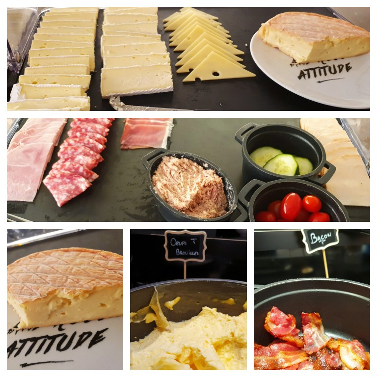 Queijos, frios e opções quentes a base de produtos da região da Alsácia