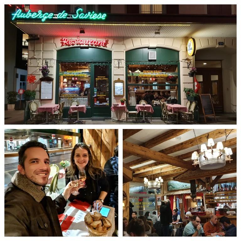 Restaurante Auberge de Savièse em Genebra