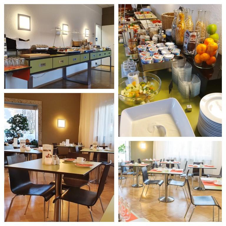 Salão de café da manhã do hotel Bischofslinde