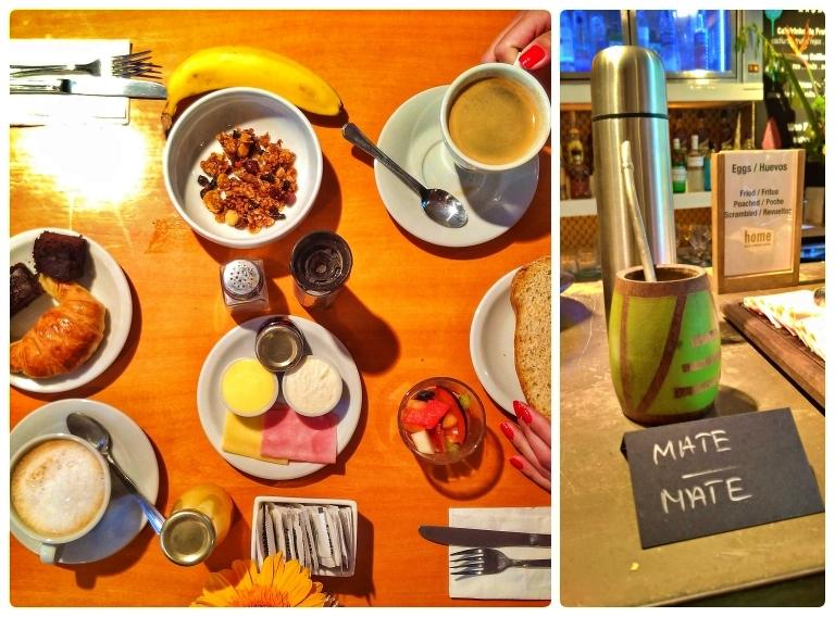 Cafés servidos à mesa e o mate no balcão à disposição dos adeptos