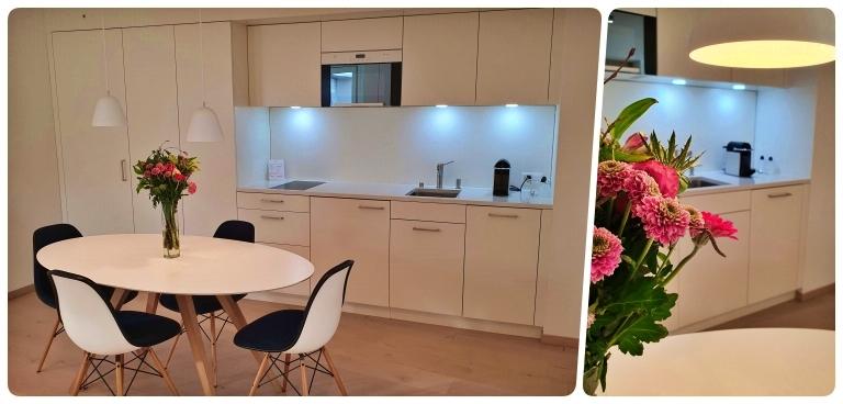 Cozinha completa no loft 502 no hotel The Passage em Basel (Basileia) Onde ficar em Basel (Basileia)