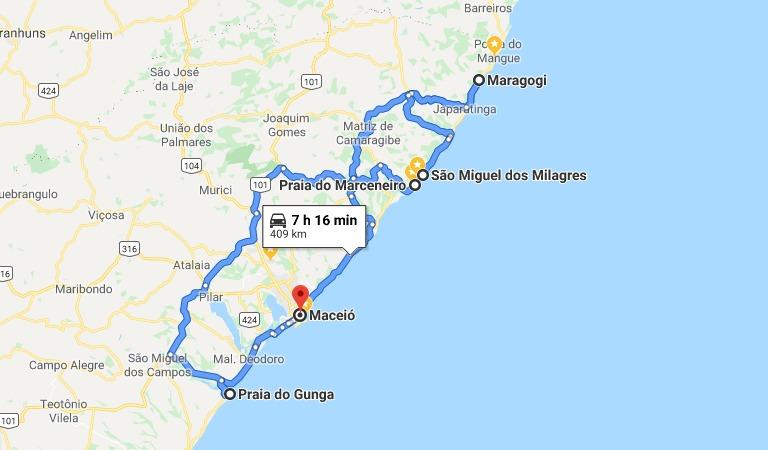 Roteiro de 7 dias em Alagoas: Maceió, Praia do Gunga, São Miguel dos Milagres, Passo de Camaragibe, Praia do Marceneiro e Maragogi