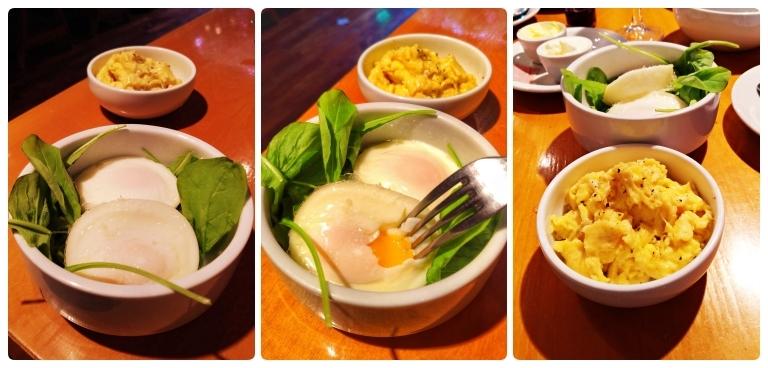 Ovos pouchet e ovos mexidos