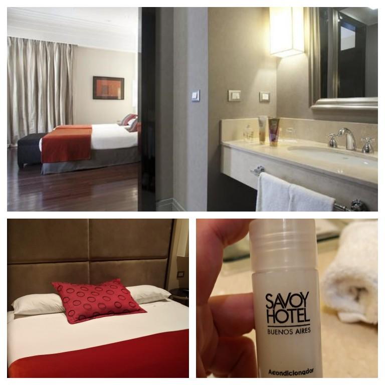 Detalhes do nosso quarto no Savoy Hotel em Buenos Aires