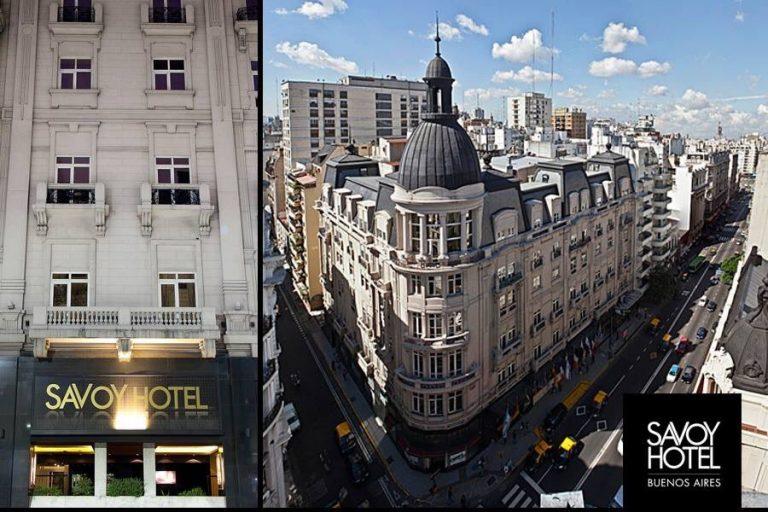 Fachada do Savoy Hotel em Buenos Aires