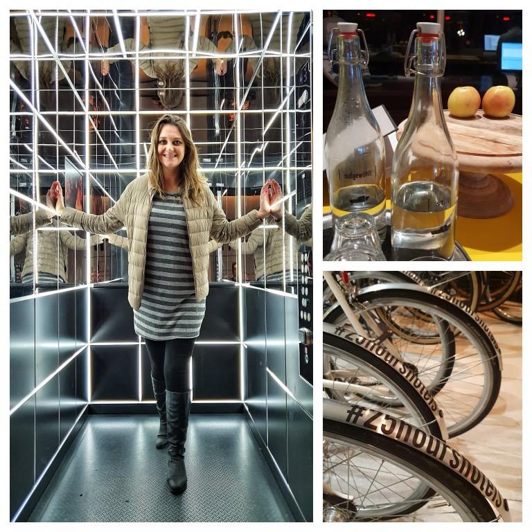 Destaques: elevador incrível; água e frutas a disposição; bicicleta cortesia