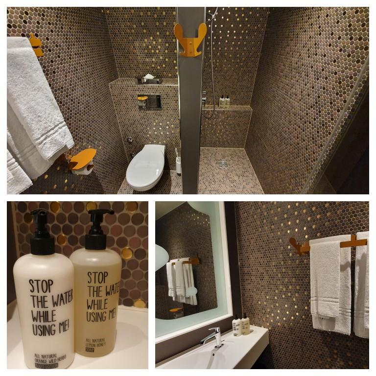 Banheiro no 25hours Hotel West Zürich