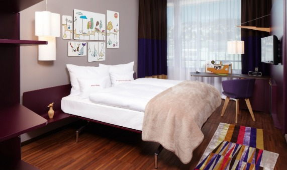 Quarto do hotel 25hours Zürich West | foto: site oficial
