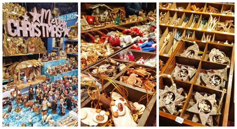 Artesanato e enfeites natalinos nos mercados de Natal na Suíça