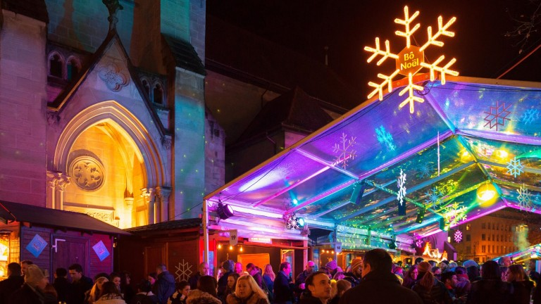 Bo Nöel: Mercado de Natal de Lausanne, na Suíça