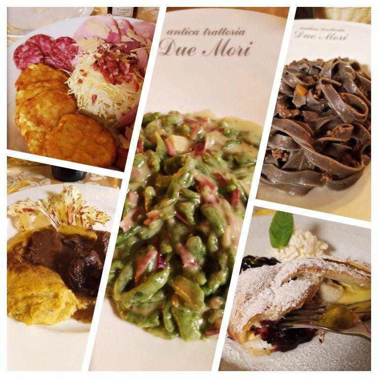 Comida típica de Trento no Ristorante Antica Trattoria Due Mori