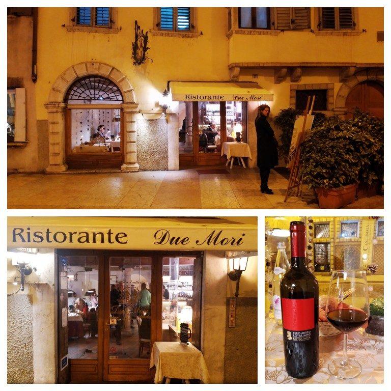 Fachada do restaurante Due Mori em Trento