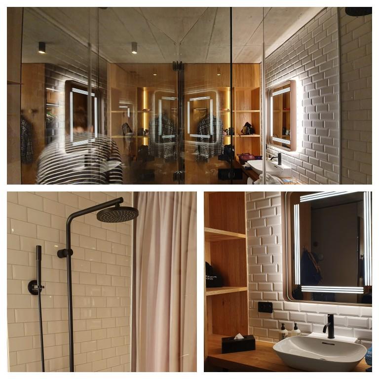 Banheiro do quarto do hotel Langstrasse, em Zurique