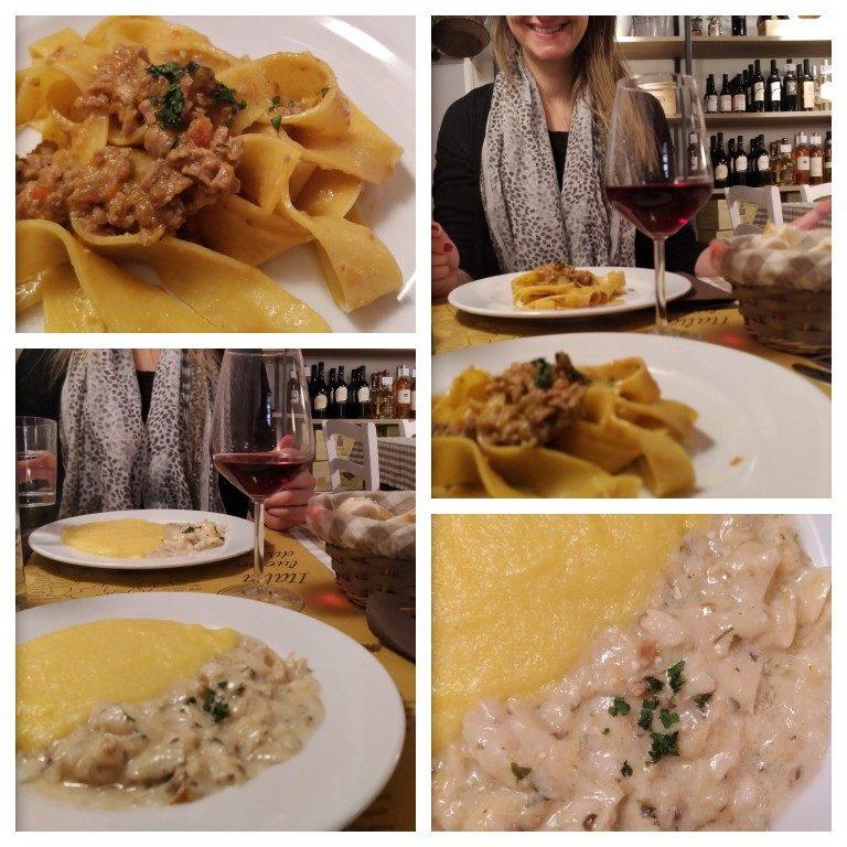 Pratos típicos vicentinos na Osteria Veneto's