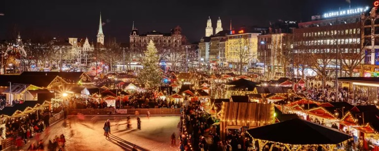 Mercados de Natal em Zurique, na Suíça