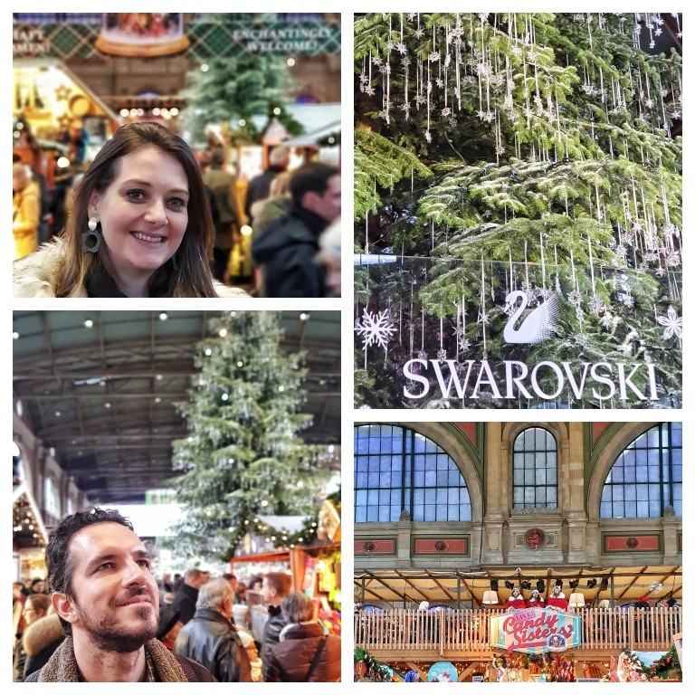Na Zurich Main Station, um dos maiores mercados de Natal indoor da Europa