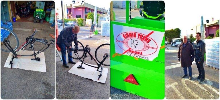 Sirmio Trans e a troca do pneu da bicicleta