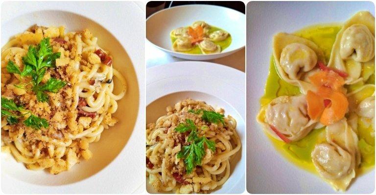 Trattoria La Fiasca: Primi piatti - Bigolli e Tortelli