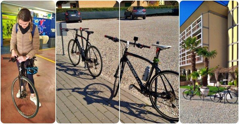 Oficina + bicicletário com mais de 40 bikes da marca profissional Pinarello