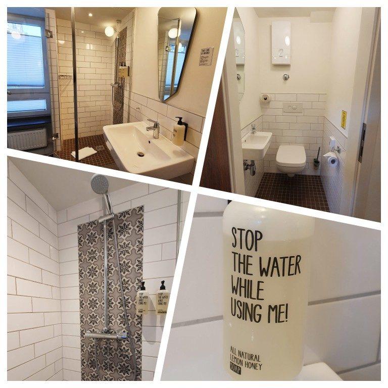 Banheiro do quarto no Koncept Hotel em Colônia