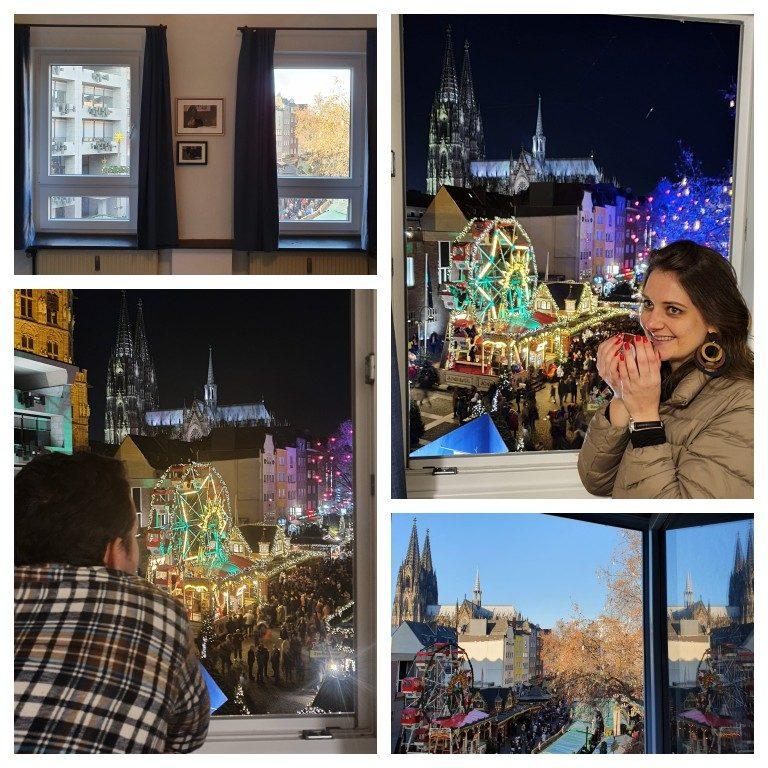 Linda vista do quarto do Koncept Hotel de dia e de noite