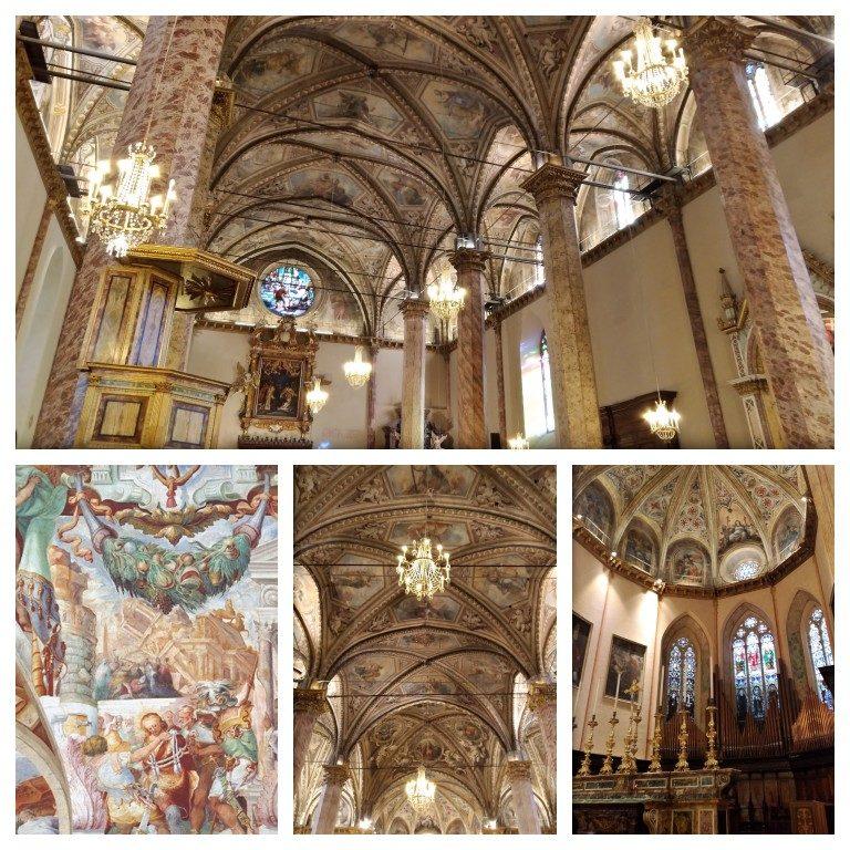 Detalhes do interior da Catedral de San Lorenzo