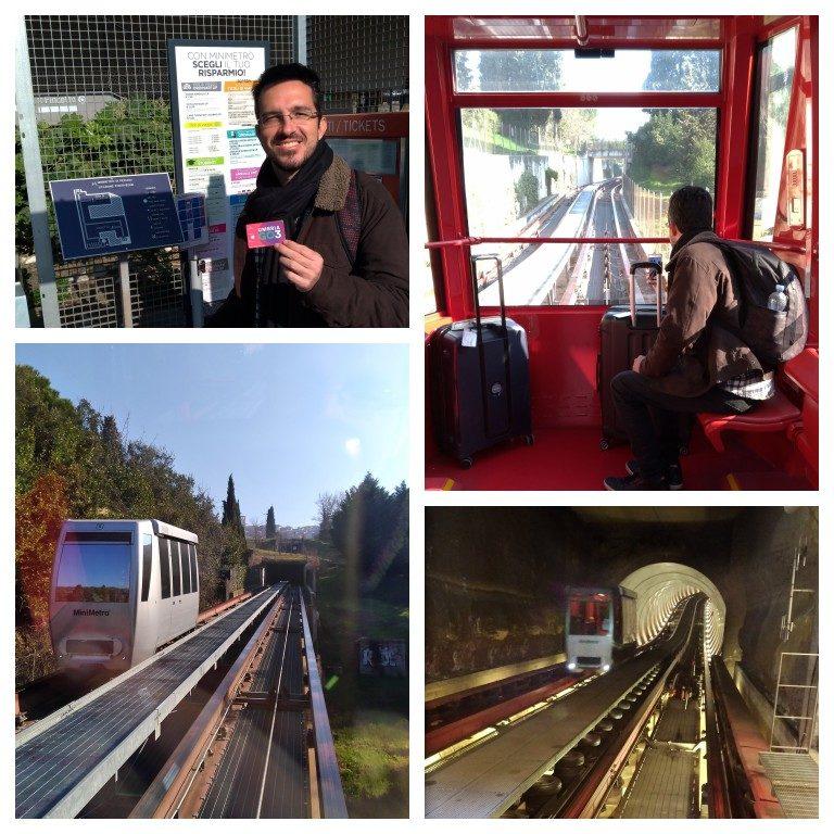O 'mini-metro' que leva da estação de trem ao centro histórico de Perugia