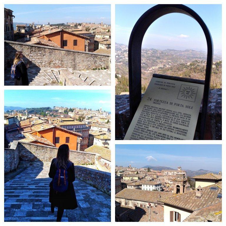 Vistas de Perugia a partir da Porta Sole