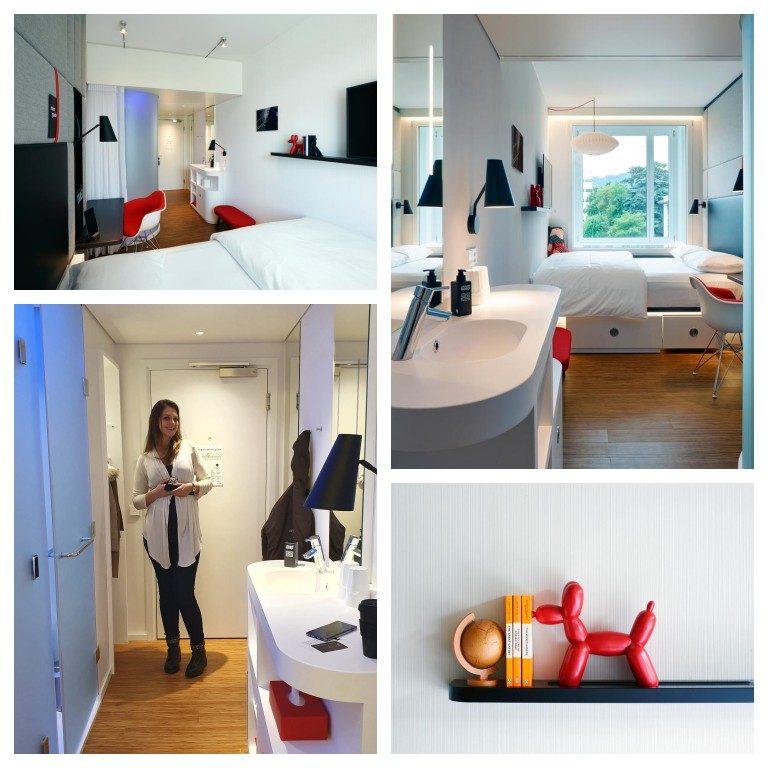 Detalhes do quarto do hotel CitizenM Zürich