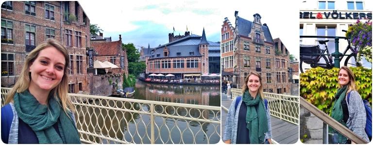 Graslei e Korenlei: Ponte Grasbrug e fachadas históricas