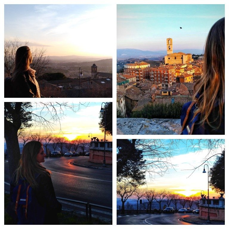 Pôr do Sol em Perugia: Panorama dai Giardini Carducci