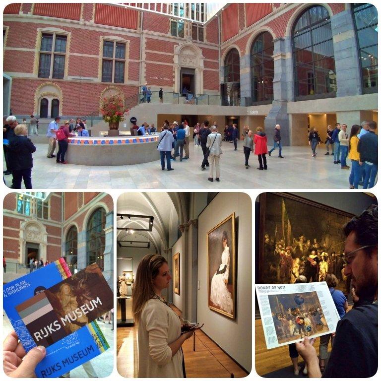 Rijksmuseum: área interna e o famoso quadro ronda noturna
