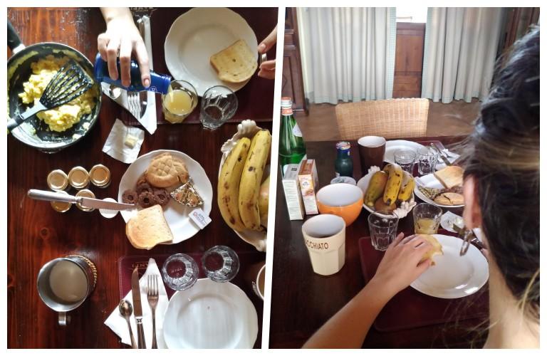 Café da manhã no agriturismo na Toscana