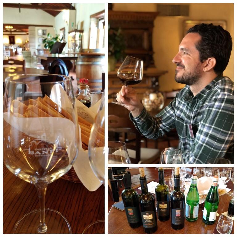 Degustação de 4 vinhos na Castello Banfi