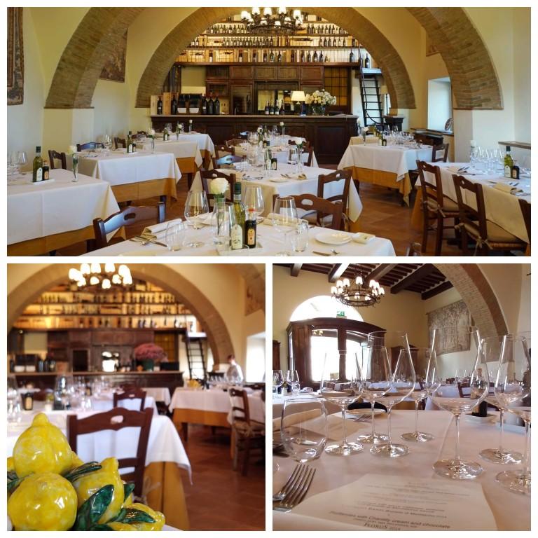 Restaurante La Taverna: ambiente sofisticado em uma antiga cave da Castello Banfi
