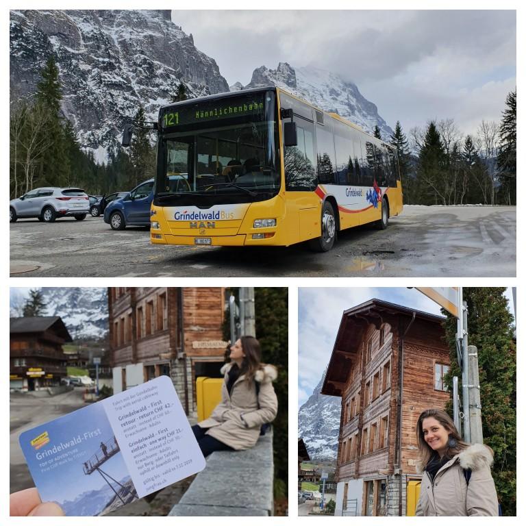 Passe de ônibus fornecido pelo hotel em Grindelwald