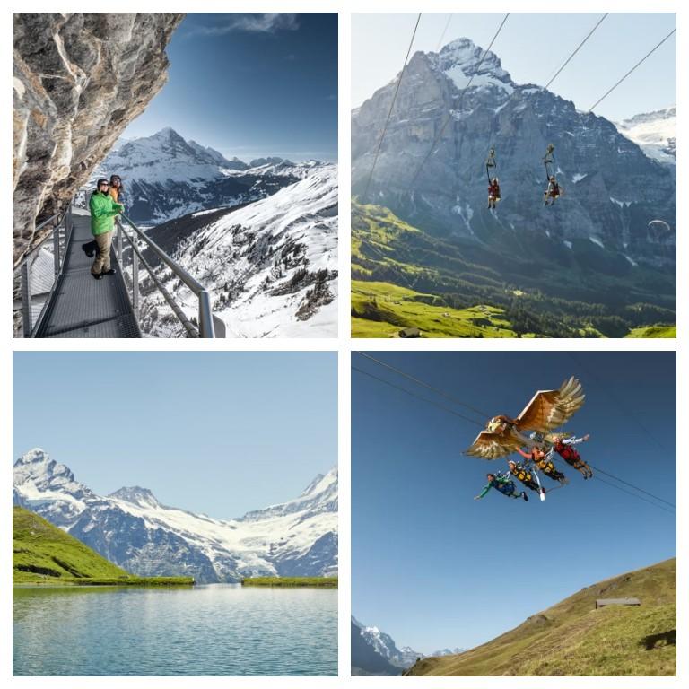 Algumas das atividades na Grindelwald First (fonte: site oficial Jungfrau)