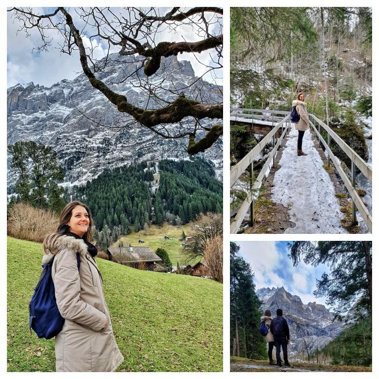Trilha de volta ao centro de Grindelwald